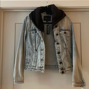 BLANK NYC Jean jacket with hood
